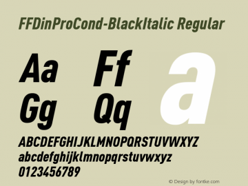 FFDinProCond-BlackItalic