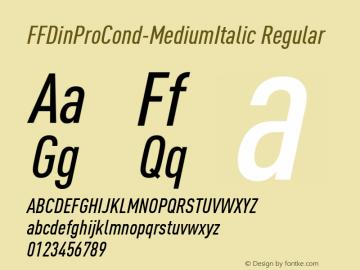 FFDinProCond-MediumItalic