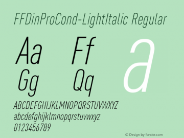 FFDinProCond-LightItalic