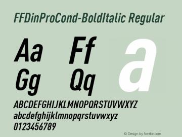 FFDinProCond-BoldItalic