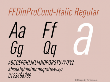 FFDinProCond-Italic