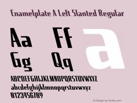 Enamelplate A Left Slanted