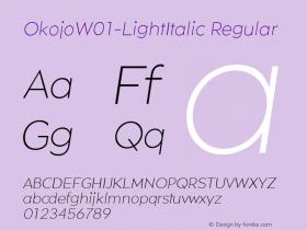 Okojo-LightItalic
