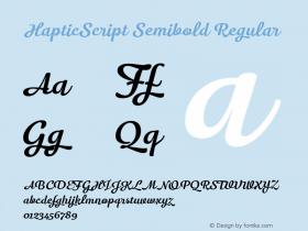 HapticScript Semibold