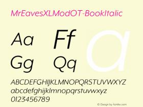 MrEavesXLModOT-BookItalic