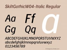 SkiltGothic-Italic