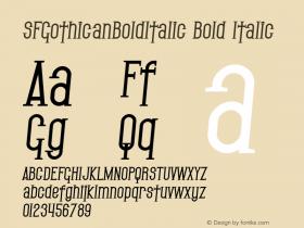 SFGothicanBoldItalic