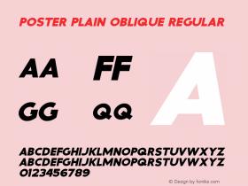 Poster Plain Oblique