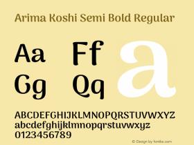 Arima Koshi Semi Bold