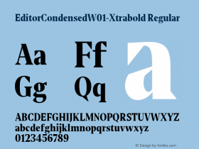 EditorCondensed-Xtrabold