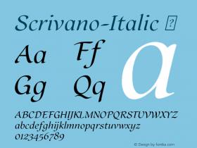 Scrivano-Italic