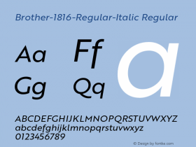 Brother-1816-Regular-Italic