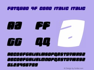 Fatquad 4F Cond Italic