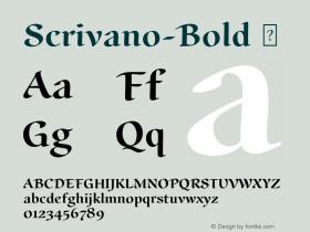 Scrivano-Bold