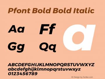 Pfont Bold