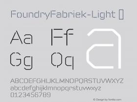 FoundryFabriek-Light