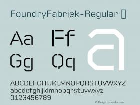 FoundryFabriek-Regular