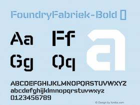 FoundryFabriek-Bold