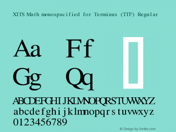 XITS Math monospacified for Terminus (TTF)