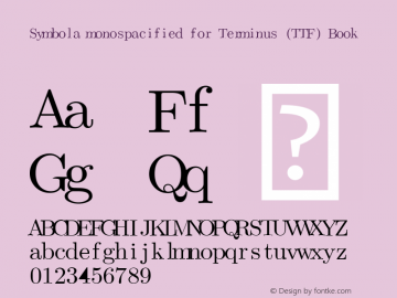 Symbola monospacified for Terminus (TTF)
