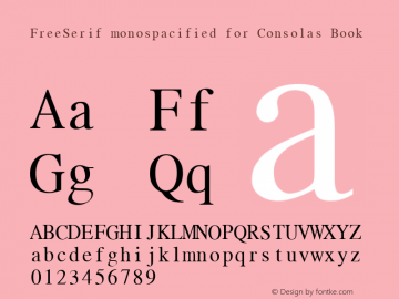 FreeSerif monospacified for Consolas