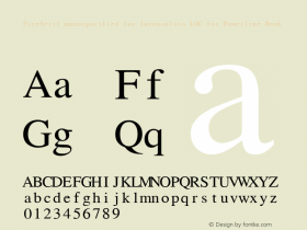FreeSerif monospacified for Inconsolata LGC for Powerline