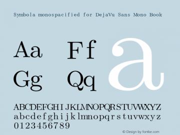 Symbola monospacified for DejaVu Sans Mono