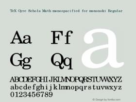 TeX Gyre Schola Math monospacified for mononoki