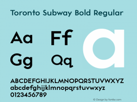 Toronto Subway Bold