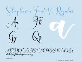 Sleeplesson Font