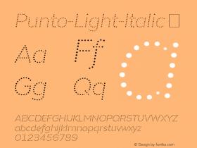 Punto-Light-Italic
