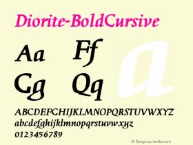 Diorite-BoldCursive