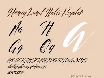 Honey Land Italic