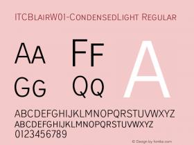 ITCBlair-CondensedLight