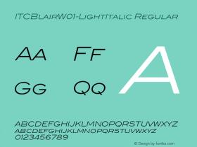 ITCBlair-LightItalic