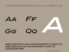 ITCBlair-MediumItalic