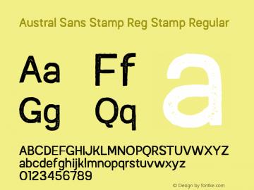 Austral Sans Stamp Reg