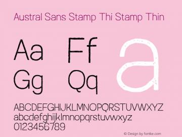 Austral Sans Stamp Thi