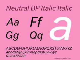 Neutral BP Italic