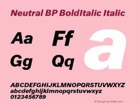 Neutral BP BoldItalic