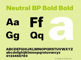 Neutral BP Bold