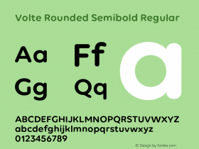 Volte Rounded Semibold