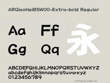 ARQiaoHeiB5-Extra-bold