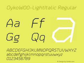 Oyko-LightItalic