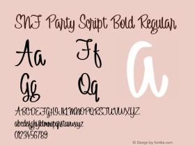 SNF Party Script Bold