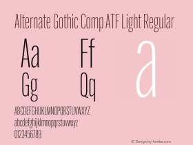 Alternate Gothic Comp ATF Light