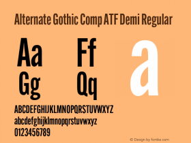 Alternate Gothic Comp ATF Demi