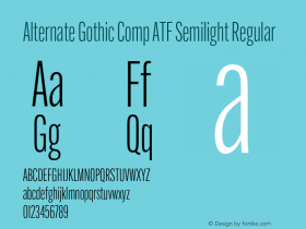 Alternate Gothic Comp ATF Semilight