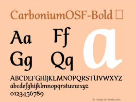 CarboniumOSF-Bold