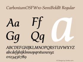CarboniumOSF-SemiBoldIt